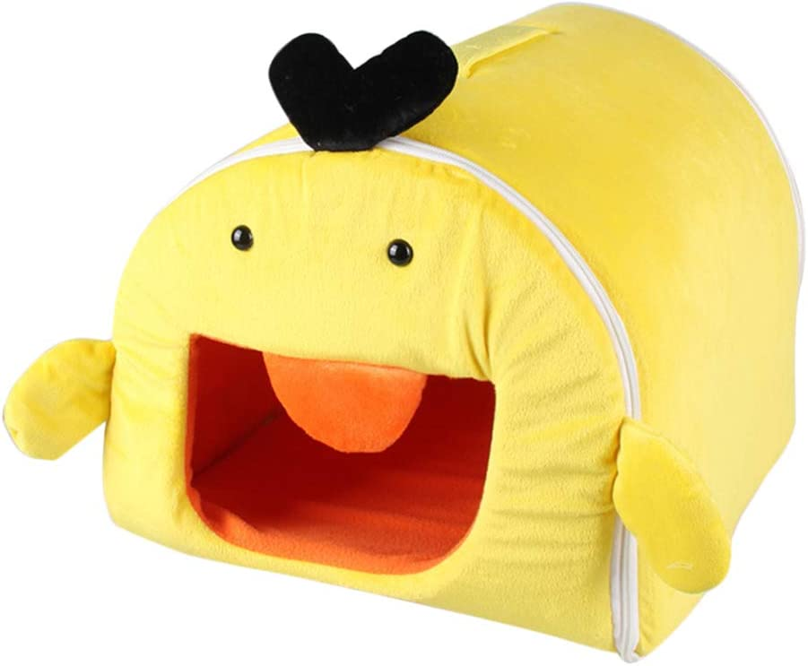 TEHAUX Winter Warm Yellow Duck New life Washable Sleep Removable Pet Cage Limited Special Price