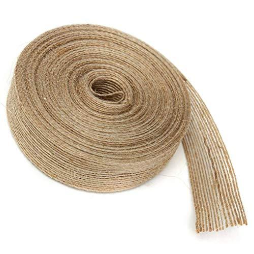 Topker 10M / Roll Boda de la Bandera de la Tabla de la Cinta de la Guirnalda Craft Wrap de Yute Yute arpillera Casa y Regalo de la Torta DIY Accesorios