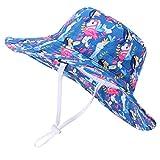 Cutemile Sombrero de sol para bebé, para niña, protección solar, para playa, con correa ajustable, para verano, de 0 a 5 años