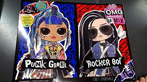 Giochi Preziosi - L.O.L Surprise OMG Remix, 2er Pack Chico und Mädchen, Rock Music
