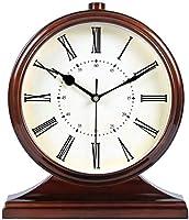 家庭用製品壁掛け時計壁掛け時計クラシックヨーロピアンスタイルテーブル時計レトロミュートリビングルーム装飾デスク時計クリエイティブベッドルームベッドサイド時計クォーツ時計B