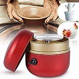 4YANG Macchina per Ceramica elettrica 1500 Giri/min Mini Macchina per tornio Strumento per ceramiche Fai-da-Te con Vassoio in Argilla per Adulti Bambini Ceramica Art