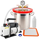 Toolly 3 Gallon Vacuum Chamber and 3 CFM Pump Kit for Degassing Silicone Epoxy