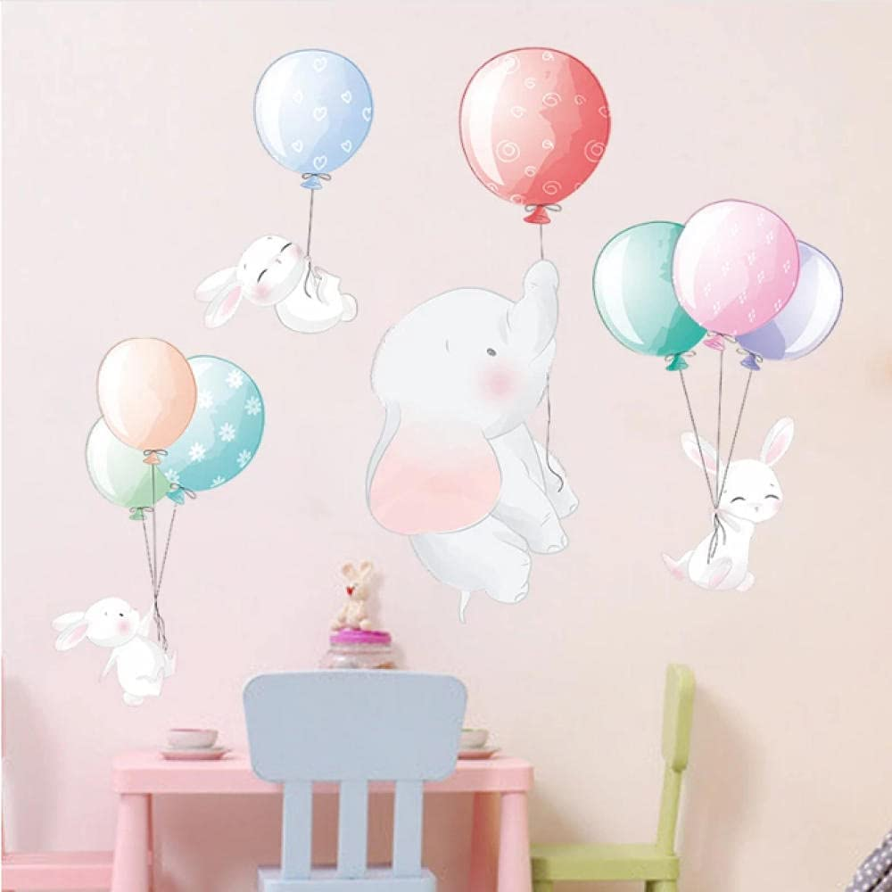 Lodykeyd Cartoon Multicolor Balloon Elephant 2021 spring and summer new K Wall for Stickers Discount mail order