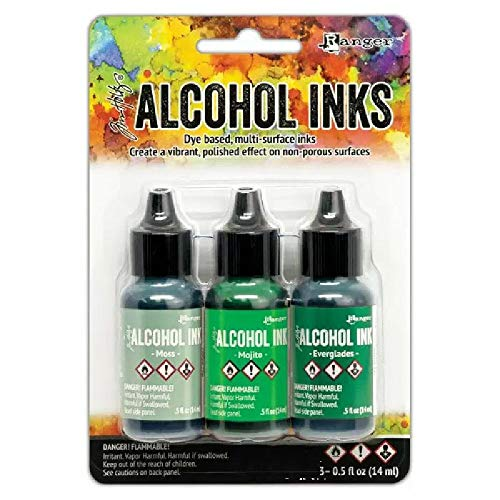 Tim Holtz - Ranger Alcohol Ink 3PKG, Mint/Green Spectrum