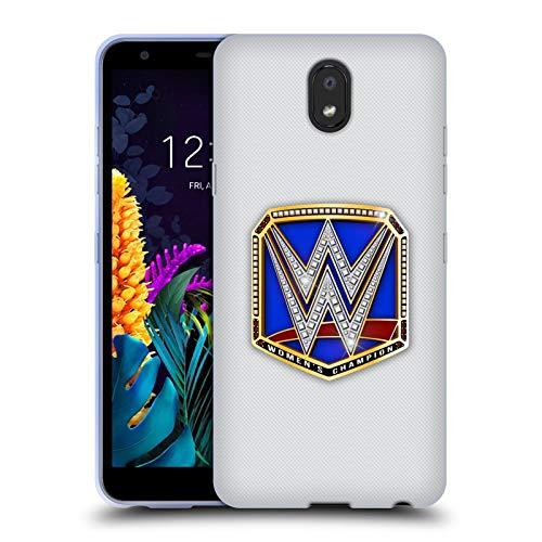 Officiële WWE Smackdown Dames Kampioen Titel Riemen Soft Gel Case Compatibel voor LG K30 (2019)