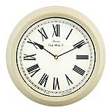 Towcester Clock Works Co. Acctim 26702 Redbourn Reloj de Pared, Color Crema