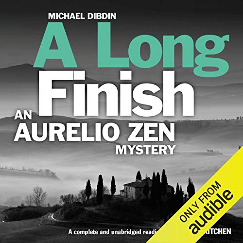 A Long Finish Audiobook By Michael Dibdin cover art