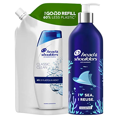 Head & Shoulders Shampoo Antiforfora Classic Clean, Combatte Forfora Prurito e Capelli Grassi,...