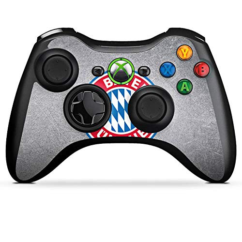 DeinDesign Skin kompatibel mit Microsoft Xbox 360 Controller Aufkleber Folie Sticker FCB Fanartikel Merchandise FC Bayern München