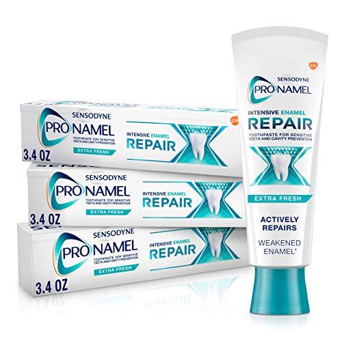 Sensodyne Pronamel Intensive Enamel Repair Toothpaste for Sensitive Teeth, to Reharden and Strengthen Enamel, Extra Fresh - 3.4 Ounces (Pack of 3)