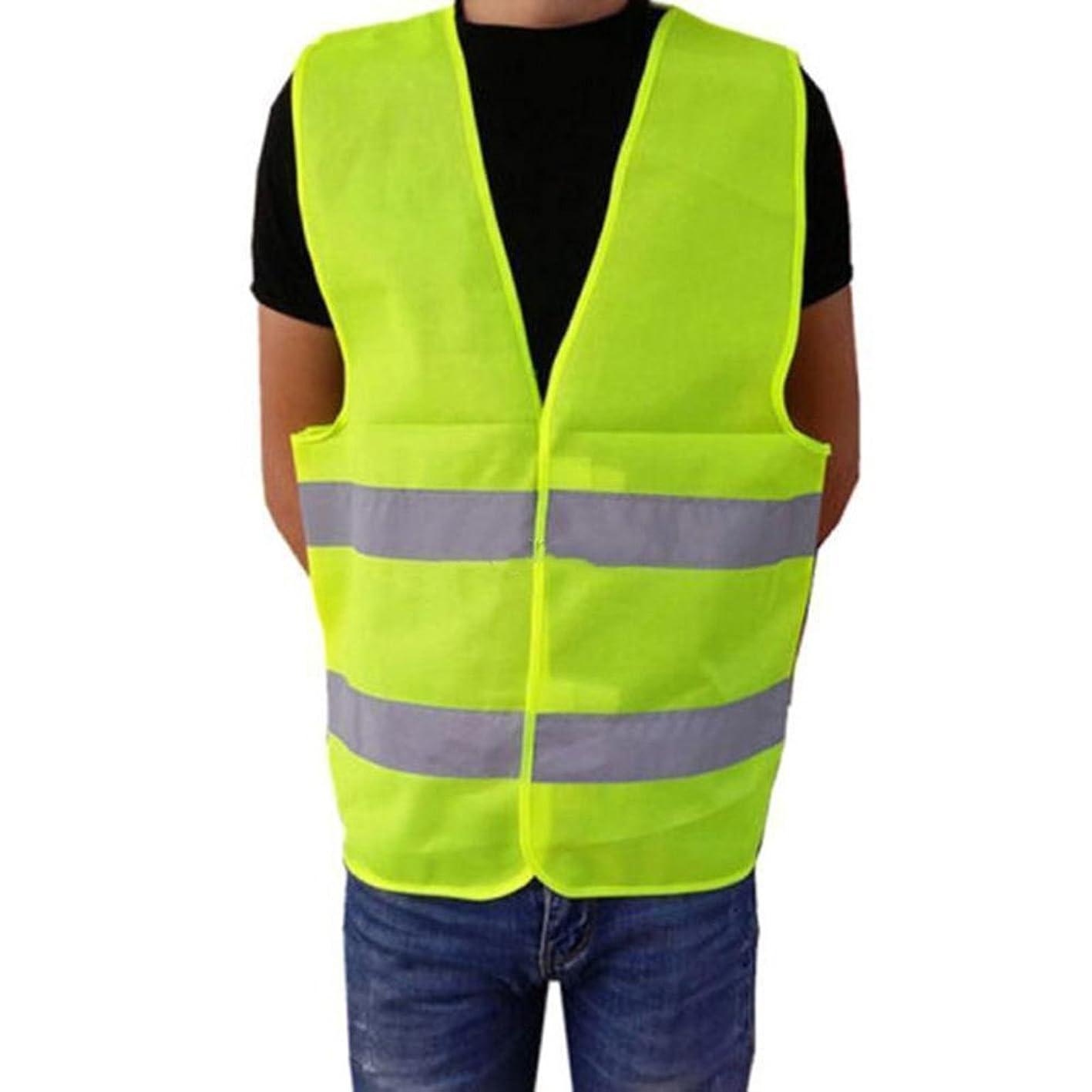 Sundatebe Reflective Stripes Safety Guard Vest High Visibility Warning Vest asjoyjalqzq536