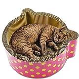 DKEE Dog Toys Tablero De Rayado De Gato Papel Corrugado Cat Nest House Cama Sofá Pata Cuidado Mascota Juguete Gatito Raspador Múltiples Ángulos for Rascar Infinity Lounge