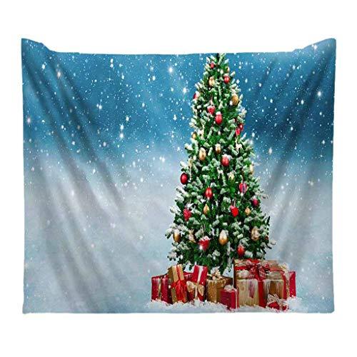 powerFul-LOT Christmas Decoration FestivalHome Decor,Christmas Tapestry Santa Print Wall Hanging Tapestry Art Faishon Room Scenery