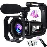 Videocamera Digitale Full HD Videocamera 4K 48MP Immagine Videocamera con Microfono, Wi-Fi, Zoom...