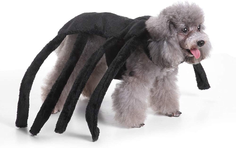 Coppthinktu Spider Dog Costume Halloween Tarantula Pet Costumes Outfit Apparel Furry Spider Legs