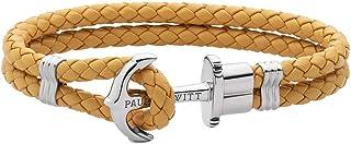 PAUL HEWITT Anker Armband Damen PHREP - Segeltau Armband Frauen, Leder Armband Damen Canary mit Anker Schmuck aus IP-Edelstahl Silber