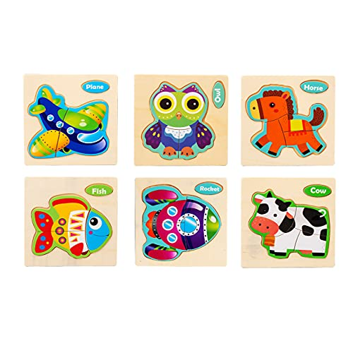 Wooden Animal Jigsaw Puzzles for Toddlers Only $5.49 (Retail $18.30)