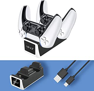 Cargador Mando PS5,carga rápida para PlayStation5 DualSense Controller,base de carga para ps5 Se pueden cargar dos control...