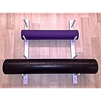 Amazon Com Foam Roller Yoga Mat Storage Rack Holds 4 8 12 Etc Modular Sold By The Pairs And No Of Pairs You Get Determines No Of Mats Rollers You Hold Easy Wall