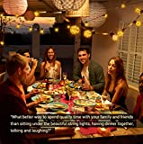 Quntis 11,7M IP65 LED Lichterkette Außen, 30er G40 Glühbirnen E12 Warmweiß+3 Ersatzglühlampe, 155 LEDs, Wasserdicht Outdoor/Indoor Deko Licht mit Stecker für Party Garten Balkon Terrasse Hof Zelt Café - 4