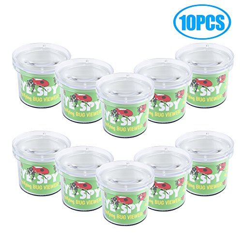 SainSmart Jr. Bug Critter Cage Magnifying Bug Viewer, Science Nature Exploration Toys Insect Explore (10 PCS)