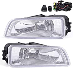 2Pcs Driving Fog Light Lamps Assembly Compatible For Honda Accord 4 Door Sedan 2003-2007 With H11 Bulbs Wiring Harness Clear Lens