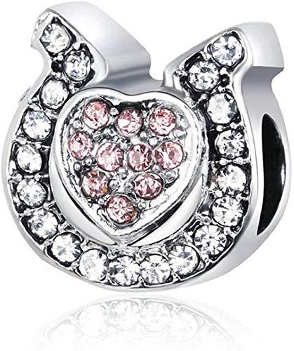 GLYIG Encantos Bead Horseshoe Platinum Platinum Vintage Aloy Beads Pulsera con Cuentas Accesorios de joyería