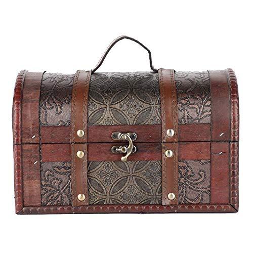 Caja organizadora de joyería, caja organizadora de madera de gran capacidad para joyería, estilo europeo Teme Bars Tiendas de ropa Estudios para almacenar joyas y cosas pequeñas(Moneda de cobre)