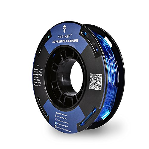 SAINSMART 1.75mm 250g Flexible TPU 3D Printing Filament, Dimensional Accuracy +/- 0.05 mm (Blue)