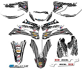 Compatible with Yamaha 2007-2011 WR 450F, Merica MATTE BLACK Complete Graphics Kit
