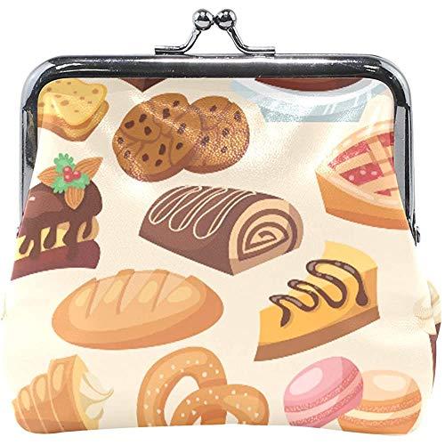 Portemonnee Gebak Brood Koekjes Cake Dessert Muntportemonnee Zakjes Lederen Change Houder Kaart Koppeling Handtas
