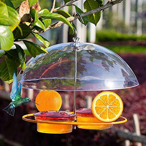 NEROSUN Baltimore Oriole Feeders, Jelly and Oranges, Hanging Wild Squirrel Proof Bluebirds Hummingbirds Houses for Outside, Outdoors