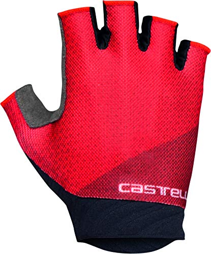 castelli Roubaix Gel 2, Guanti da Ciclismo Donna, Red, S