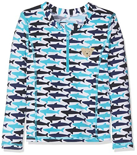 Steiff Jungen UV Shirt Badeanzug, Blau (Surf In The Web 6002), 80