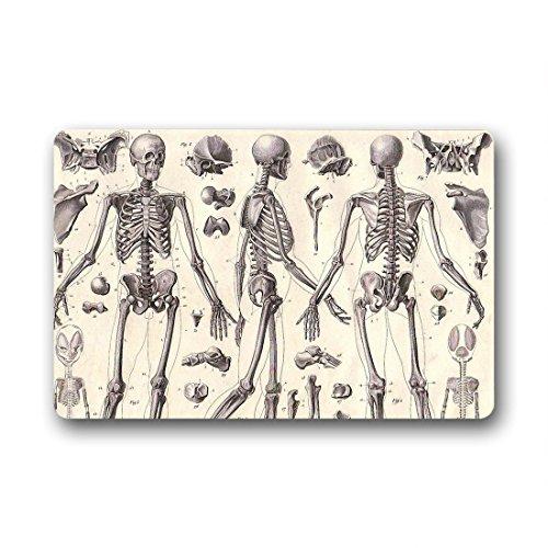 Doubee Adapter Neuf générique Mode Premium Tapis Design Squelette Pied Tapis Anti-Poussière Maison passwort 46 cm x 76 cm, Tissu, E, 18\