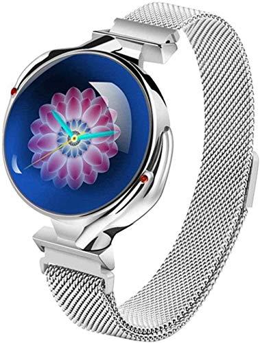 Reloj Inteligente Mujeres IP67 Impermeable Reloj Deportivo Monitor De Ritmo Cardíaco Reloj Inteligente De Presión Arterial Para Regalo De Las Señoras Fácil De Usar Azul-Oro-Plata Gris