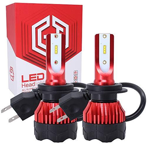 Lampadina H7 Led 2 pezzi 55W 12000LM LED 6000K Sostituzione per Luci Lampade Hid Lampada Luci Kit Fari Abbaglianti o Anabbaglianti per Auto Kit