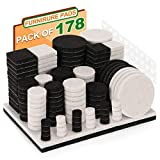 Feltrini Sedie, Nisear 178 Feltrini adesivi per mobili sottosedie salva-pavimento in varie misure con scatola 4 mm Per Sedie per Maggior Durabilità