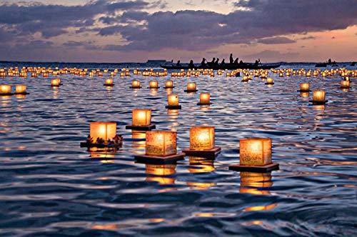 floating lanterns water - 7