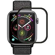 Icheckey Apple Watch 用 ガラスフィルム Series 4 40mm 保護フィルム アップルウォッチ 強化ガラス 気泡レス 高透過率 耐指紋