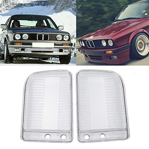 Auto Klar Scheinwerfer Objektivabdeckung 1 Paar Auto-Scheinwerfer-Objektiv Klar Shell Cover Left & Right Lampeneinheit Lampshade Abdeckung Fit for BMW E30 1984-1991 Scheinwerferlinse