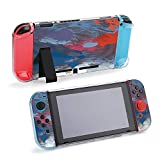 SUPNON Switch Case Compatible with Nintendo Switch Games Protective Hard Carrying Cover Case for Nintendo Switch Console Joy Con Controlle - Oil Painting On Canvas Handmade Abstract Art Design30700