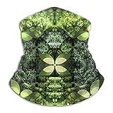 Scaldacollo Ghetta Passamontagna Verde Farfalla Split Marijuana Psichedelica Maschera Viso Calda Antivento Multifunzionale Inverno Faccia Sciarpa Per Uomini e Donne