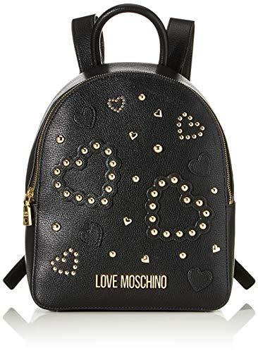 Love Moschino Jc4036pp1a, Borsa a Zainetto Donna, Nero (Nero), 10x27x30 cm (W x H x L)
