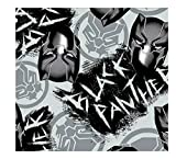 Fleecestoff Black Panther, 1,4 m, Marvel Avengers Graffiti