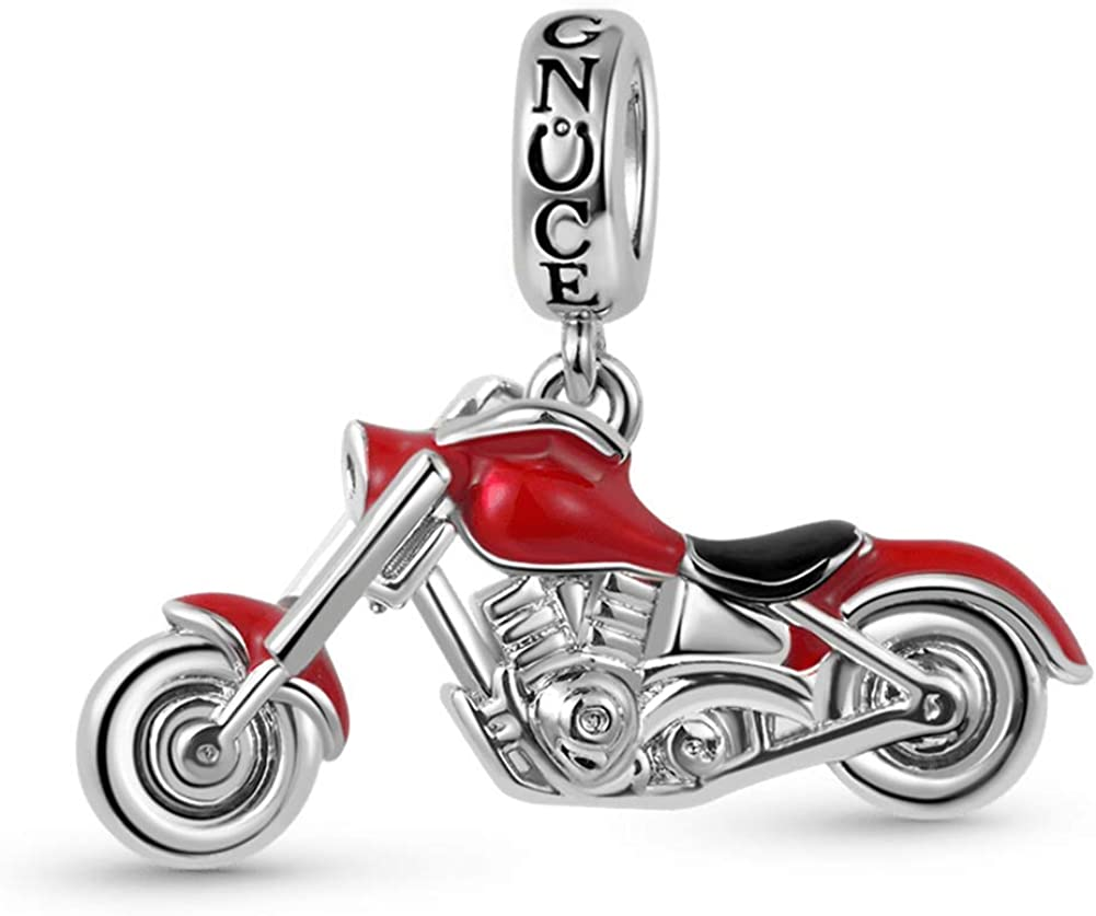 GNOCE Motorcycle Pendant Charm Cheap bargain 925 lowest price Sidecar Black Sterling Silver