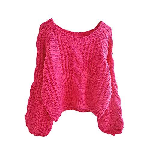 BaZhaHei-Jersey, Jersey de Academia para Mujer, Suelta, Delgada, con Capucha, Manga Corta, suéter Corto de Lana Gruesa Camisetas Coreana del suéter del suéter del Viento de la blsua Femenino Abrigo