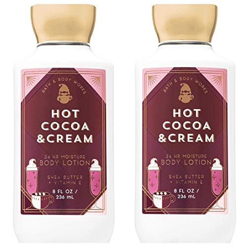 Bath & Body Works Hot Cocoa & Cream Super Smooth Body Lotion 8 fl.oz Pack of 2