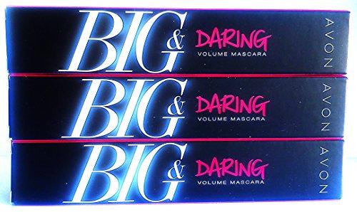 3 x Avon Big & Daring Volumen Máscara Rímel Marrón Negro 10ml